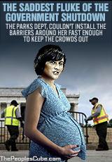 Sandra Fluke victim of government shutdown