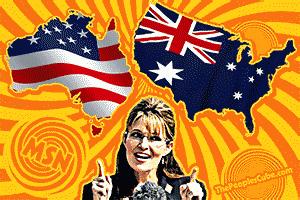 Australian Sarah Palin cartoon