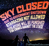 Sky closed due to govt shutdown cartoon