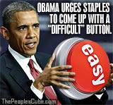 Obama Staples Easy Button