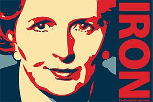 Margaret Thatcher portrait by Oleg Atbashian