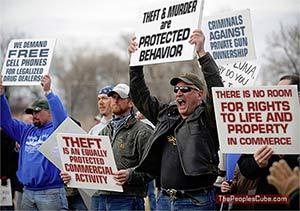 Theft, murder: protected behavior