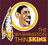 Obama - New Washington Redskins logo cartoon