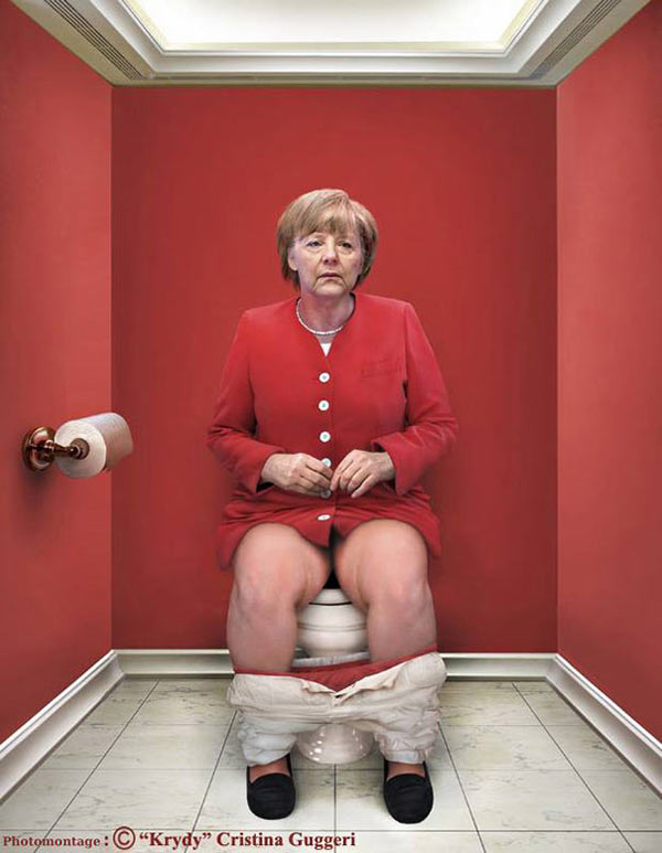 World leaders on toilets
