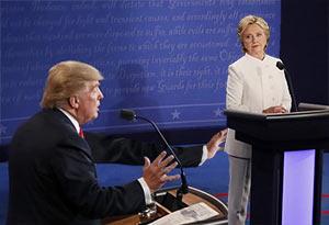 Trump Gropes Hillary