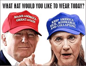Trump hat, Hillary hat