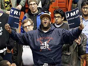 Anti-Trump protester