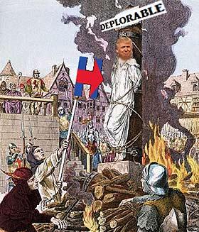 Trump burning