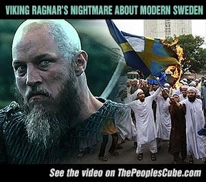 Viking Ragnar nightmare modern Sweden