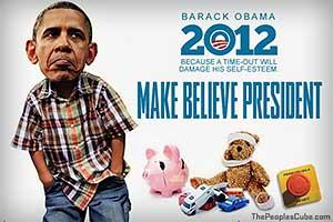 Obama man-child cartoon