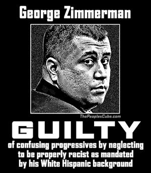 George Zimmerman - Travon Martin Guilty poster
