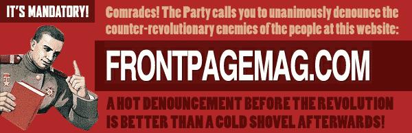 Front Page Magazine denunciation