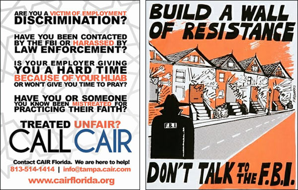 CAIR Flyer - Don't talk to FBI