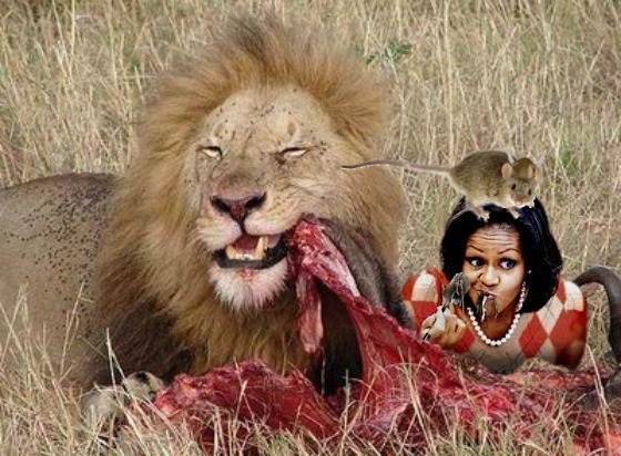 lion michelle eating.jpg