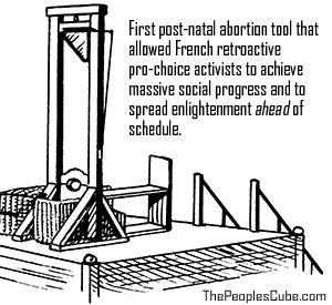 Guillotine Retroactive Abortion Cartoon