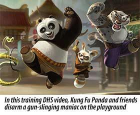Kung Fu Panda vs. Guns Cartoon