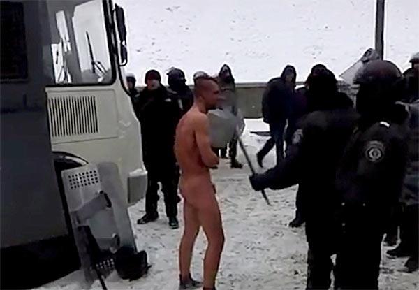 Shocking video: Ukrainian police torment arrested activist