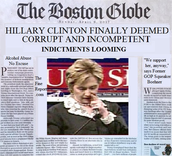 Boston globe parody Hillary Clinton.jpg