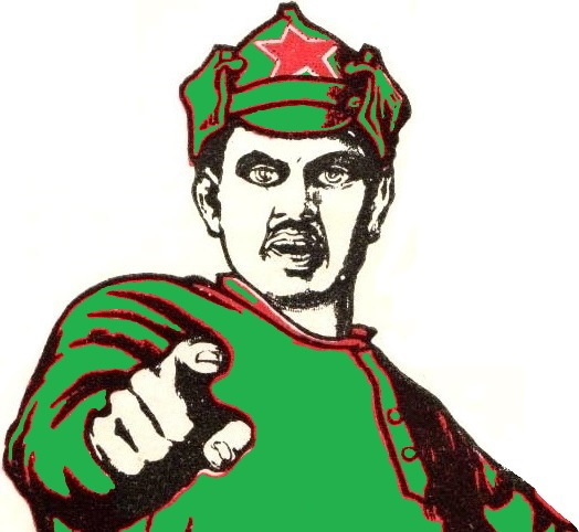 logo.pointing.finger.commissar.SU.poster.You volunteered for recruitment_.Ты записался добровольцем_.EXCERPT.green.jpg