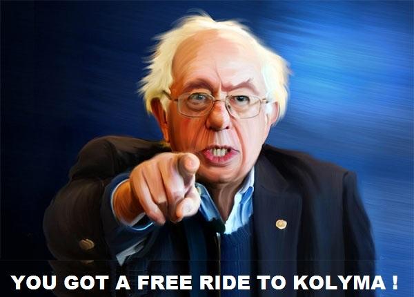 The Peoples Cube.Sanders.2016.05.05.CAPTION THIS - Bernie finger.Kolyma.jpg