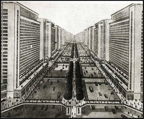 FRA.Le Corbusier.Ville contemporaine de 3 millions d-habitants.1922.1.see - Plan Voisin.1925.2.(600).jpg