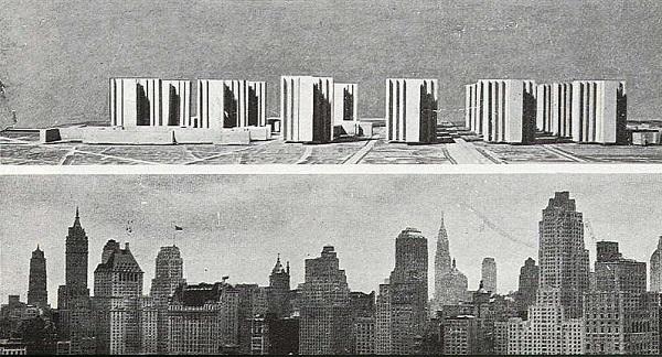 FRA.Le Corbusier.Ville contemporaine de 3 millions d-habitants.1922.3.versus NY.see - Plan Voisin.1925.(600).jpg