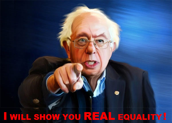 The Peoples Cube.Sanders.2016.05.05.CAPTION THIS - Bernie finger.blank.Real Equality.jpg
