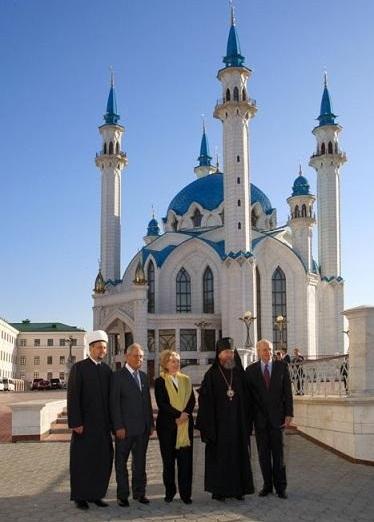 US.RUS.Hillary Clinton.Tatarstan.Kazan.Kul Sharif mosque.2009.10.14.jpg