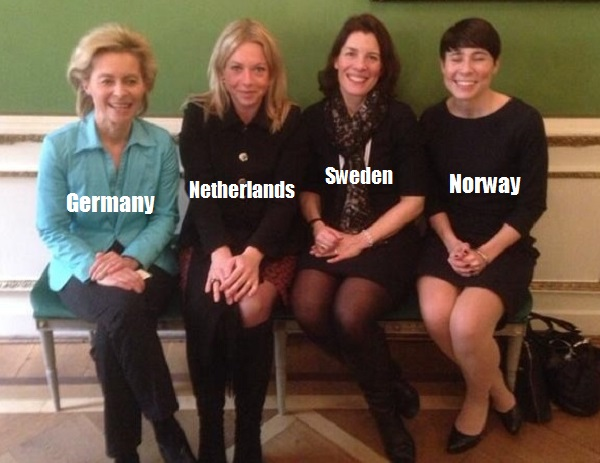 military.3.2014.02.Munich-summit.Defense ministers of Germany, Netherlands, Sweden, Norway.(FB).jpg