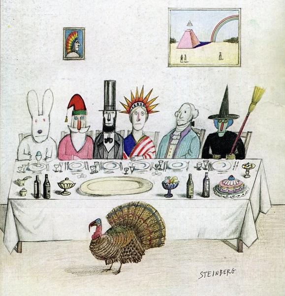 Steinberg.(New Yorker.1976.11.29).Thanksgiving.detail.jpg