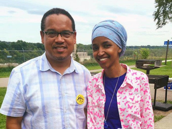 Ilhan Omar with Minnesota AG Keith Ellison.jpg