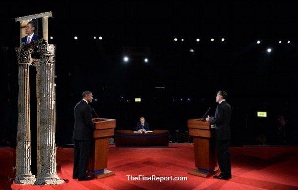 Romney obama debate with Greek columns, edited.jpg
