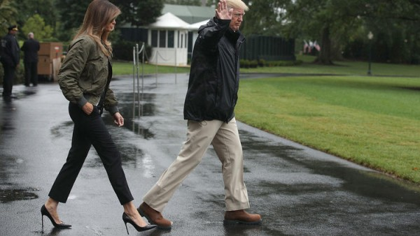 Melania wearing High Heels.jpg